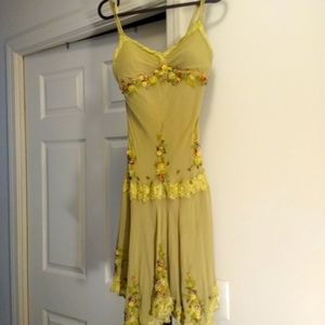 Sue Wong silk dress, incredible beading/embroidery